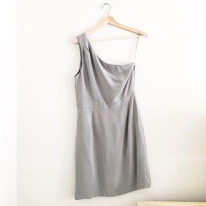 J. Crew Silk One Shoulder Dress